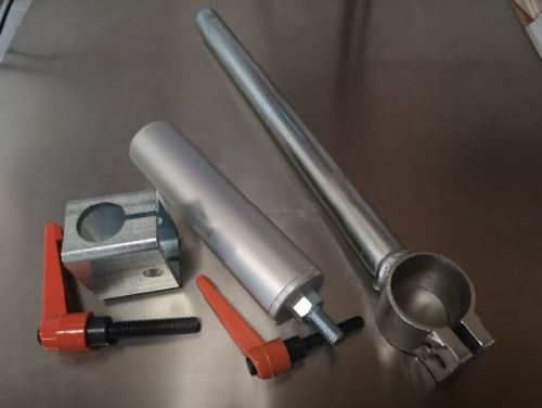 Package: Clamp Stork WITH handle LONG (300mm) and LONG Cylinder (200mm) and Stork Holder with Handle